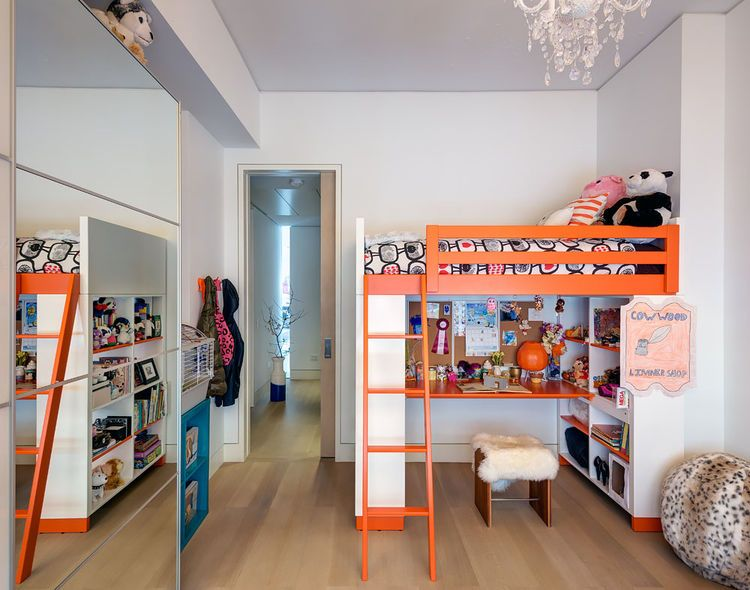 Ikea Kids Rooms kids' room with orange ikea bunk beds | modern design for kids