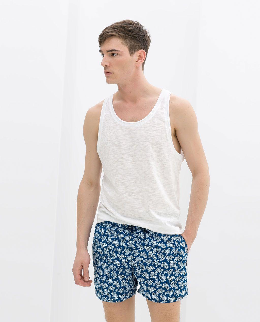 am besten bewertet neuesten Online-Verkauf Leistungssportbekleidung ZARA - HERREN - BADEHOSE MIT PAISLEYMUSTER | Men fashion ...