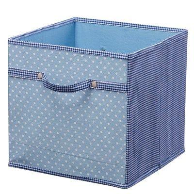 Kids Concept - Storage Box Canvas Blue - Babyshop.com
