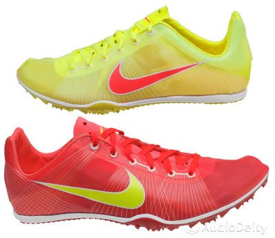 075884a52878 ▻New NIKE Zoom Victory Track Field Spike Mid Distance Running Shoes Red  Yellow