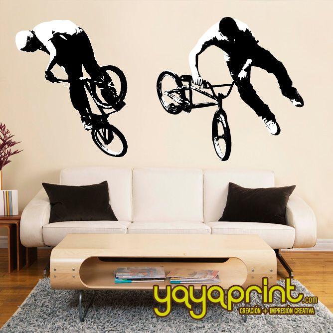 Vinilo decorativo pared bike bici hecho en espa a - Vinilos decorativos en barcelona ...