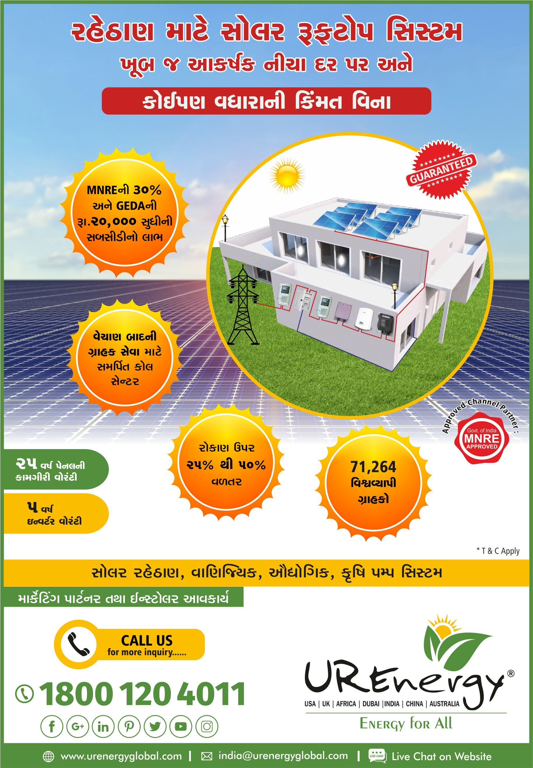 Rooftop Solar Panel Inverters Water Pump Solar Epc Gujarat India U R Energy Solar Water Pump Renewable Energy Companies Solar