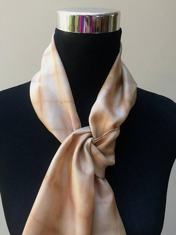 e17672e4e I used my own homemade black walnut and avocado dyes to create the peach  and caramel hues of this luminous habotai silk scarf.