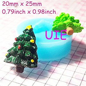 008LBJ Christmas Tree Silicone Flexible Christmas Tree Mold Polymer Clay by UIE on Amazon