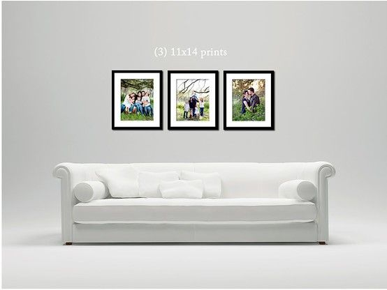 3 11x14 Framed Prints Over A Couch Or On A Larger Wall Feature Wall Bedroom Feature Wall Living Room Living Room Photos