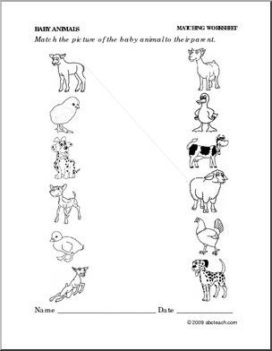 Worksheets Animals And Their Young Ones Worksheet animals and their babies worksheets sharebrowse sharebrowse