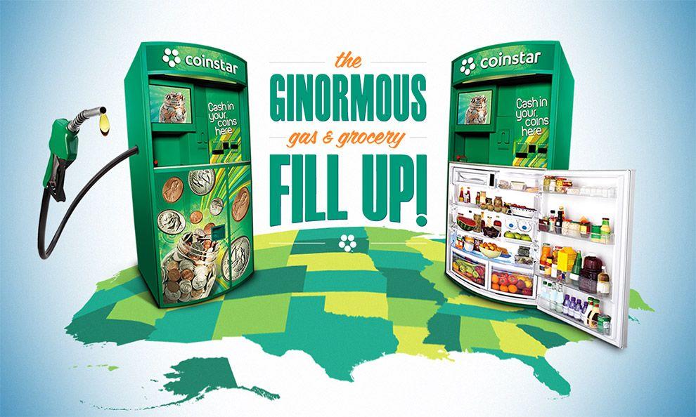 Coinstar ginormous sweepstakes machine design vending