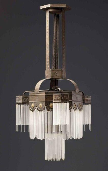 Classic deco lines photog unknown art deco chandelier