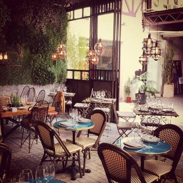 El Patio Del Fisgon Restaurantes Madrid Diseno De Tienda De Cafe Terrazas