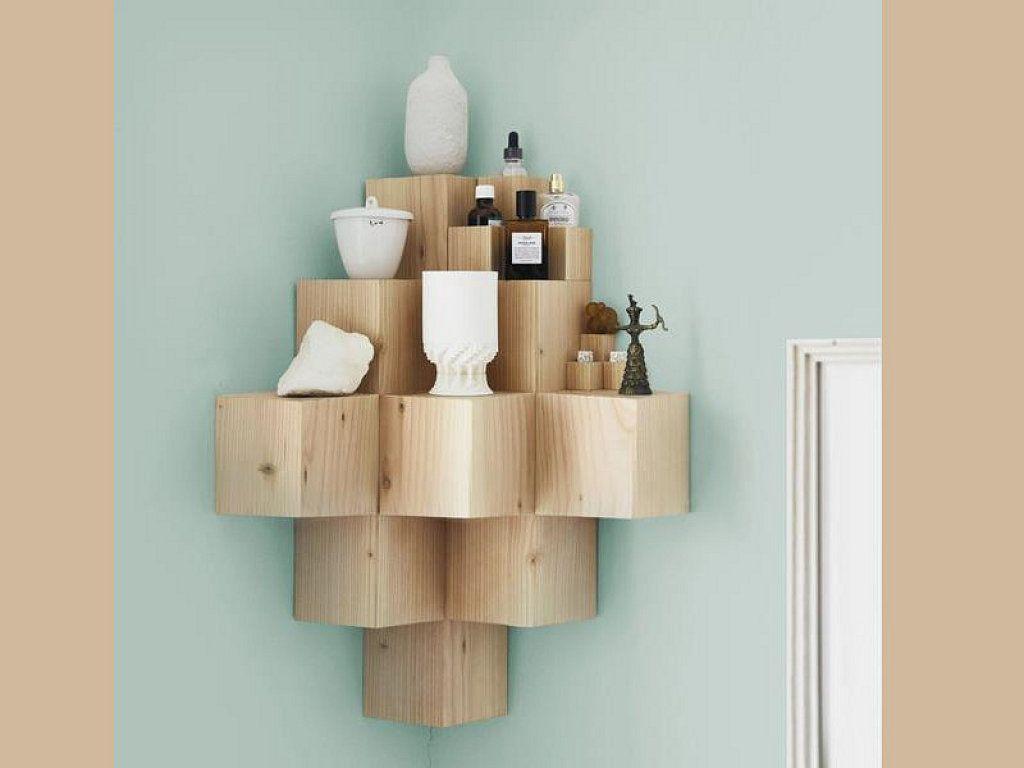 Qu os parece esta original estanter a en 2018 distreu te pinterest muebles madera y - Estanterias de rinconera ...