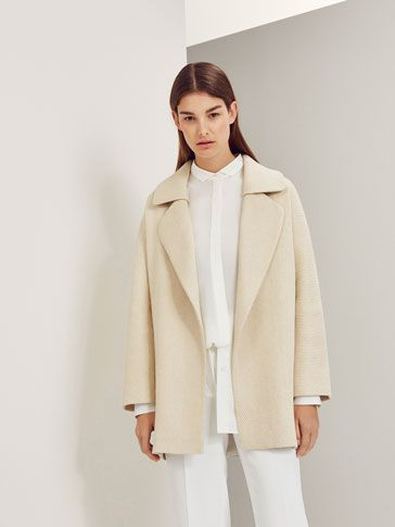 90925b18fd0c LIMITED EDITION TEXTURED WEAVE COAT - NYC Limited Edition - Massimo Dutti