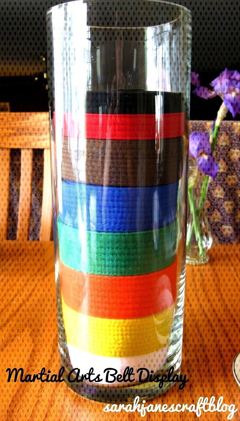 Sarah Janes Craft Blog Martial Arts Belt Display Vase