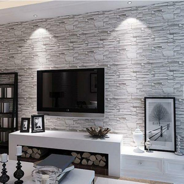 decoration idee deco papier peint papier peint imitation briques blanches decoration bougies idee deco chambre adulte couloir 07122032 idee deco papier