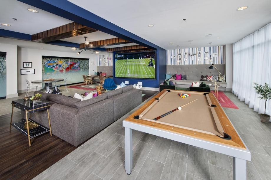 Billiard Table At Camden Buckhead Square Apartments In Atlanta Ga