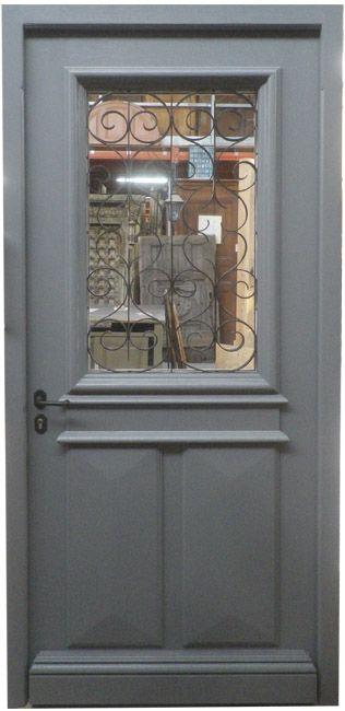 Exemple De Porte DEntree Avec Grilles Anciennes Finition Peinture