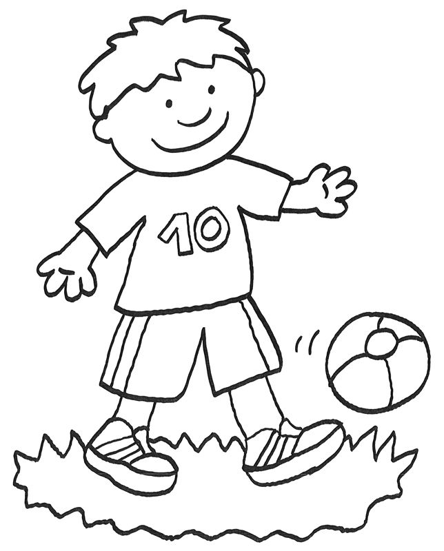 Ausmalbilder Kostenlos Fussball Spieler Ausmalbilder Fur Kinder