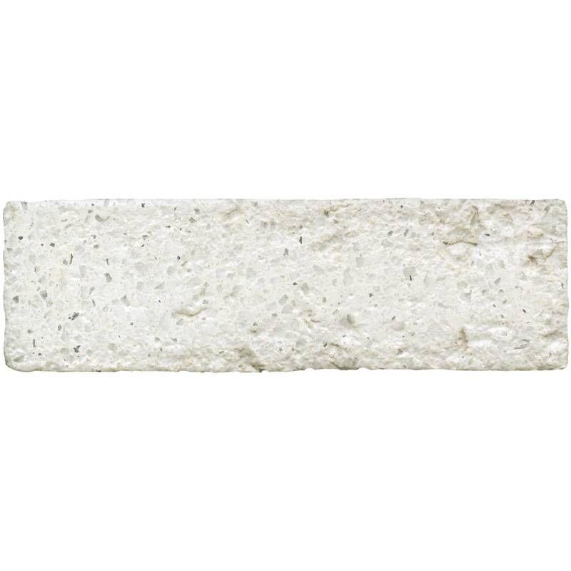 Terrazzo en briquette imitation 6 5 x 20 5 cm blanc Carrelage effet briquette