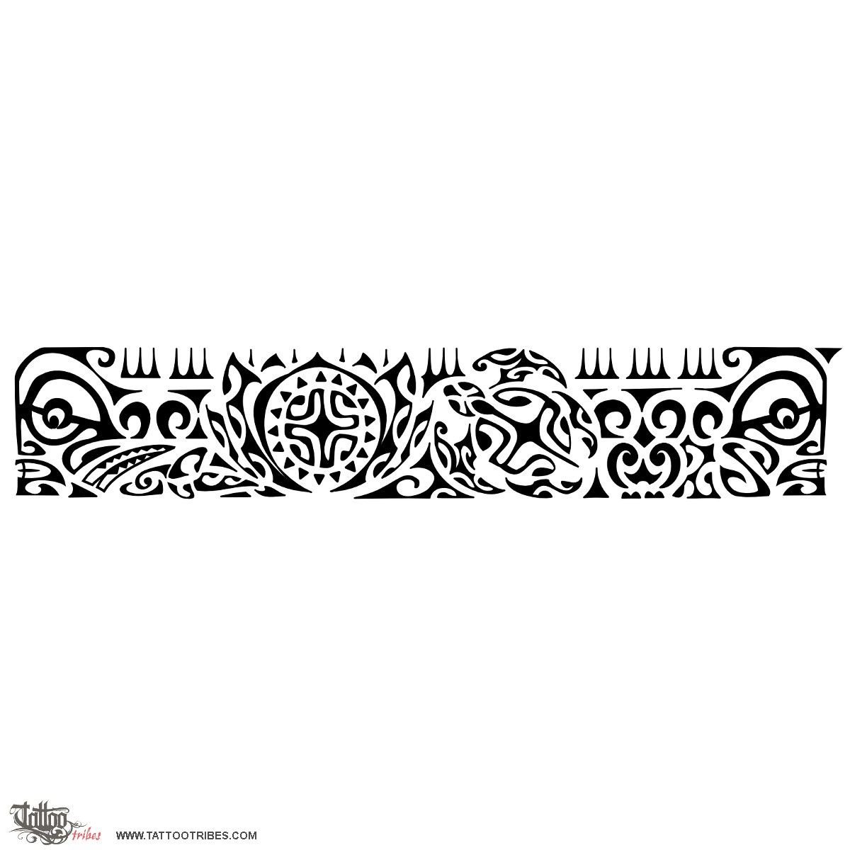 Black Ink Polynesin Armband Tattoo Design And Information