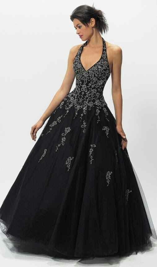 Gorgeous black wedding gown