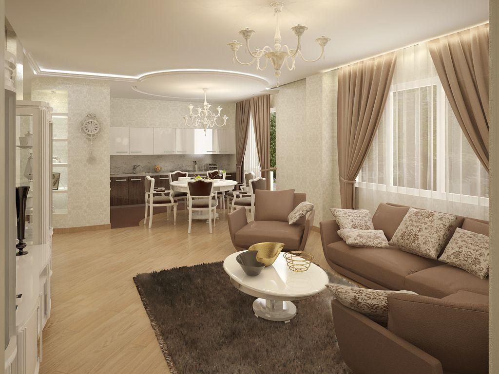 дизайн гостинной с кухней в доме - Поиск в Google | Дизайн ...