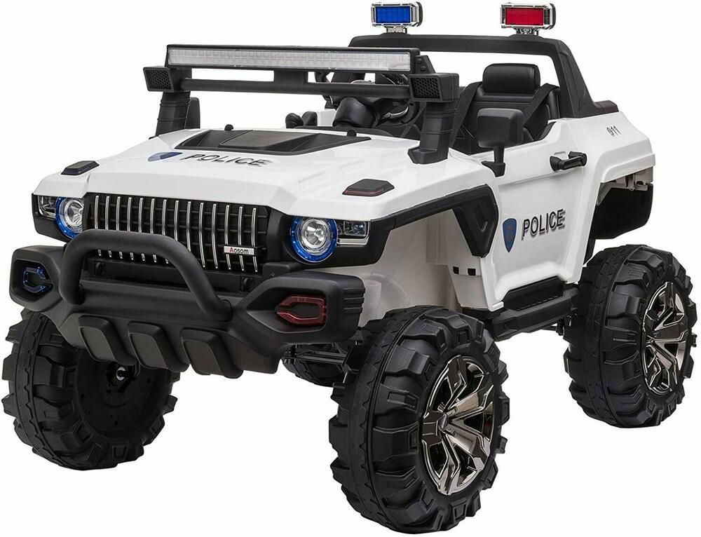 Kids ride on suv 4 wheeler police car truck 12v mp3 aux rc