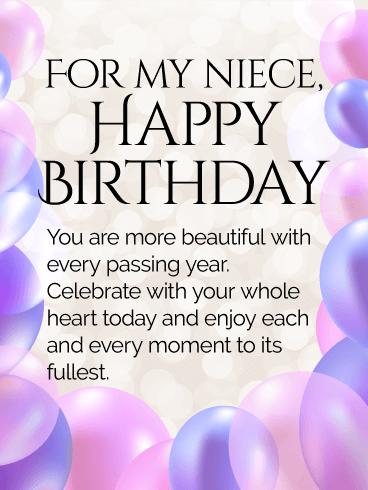 To My Precious Niece Happy Birthday Wishes Card Bringing Light Happy Birthday Wishes For My Niece