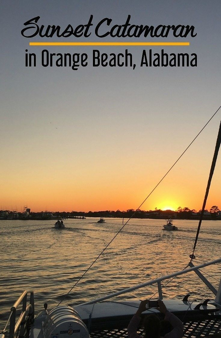 Sunset Catamaran In Orange Beach Alabama With Sail Wild