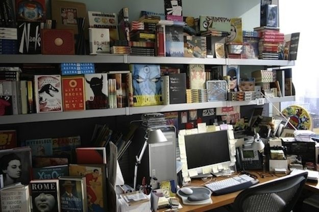 Chip Kidd, book cover designer. | 40 Inspiring Workspaces Of The Famously Creative