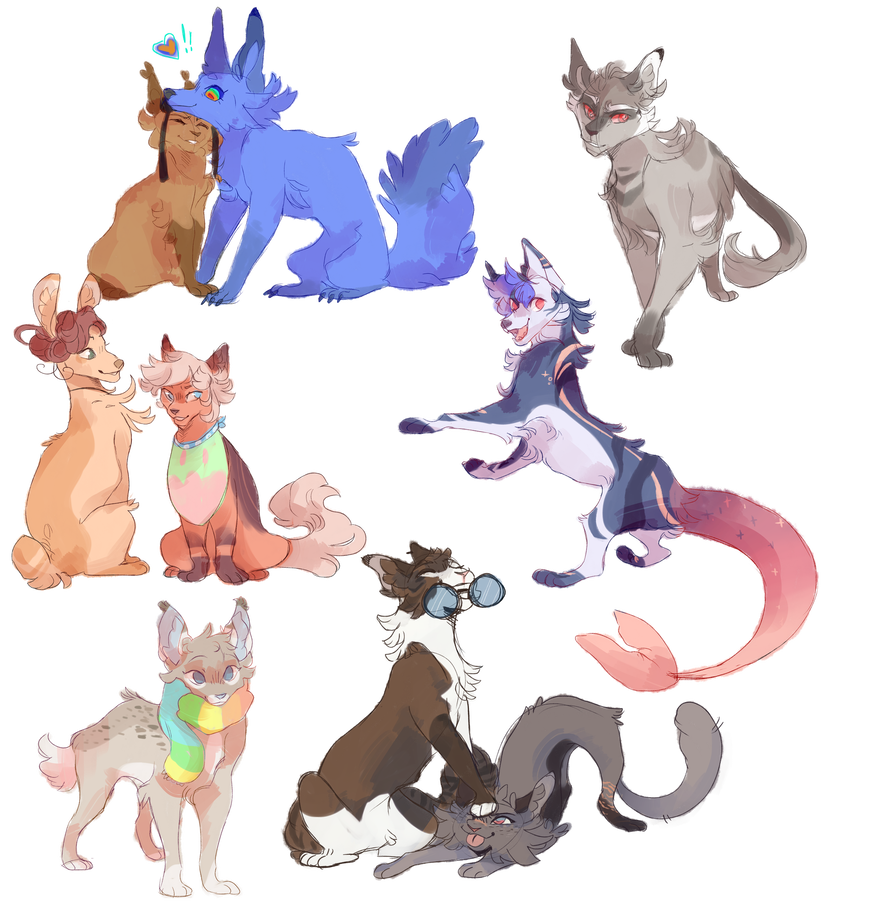 Sketch Commission batch! by splashamantha (With images