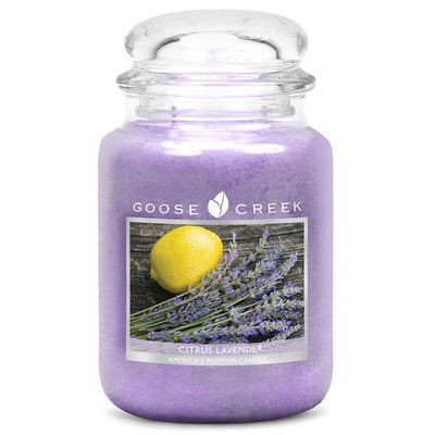 Goose Creek Candle Company Essential Series Citrus Lavender Scent Jar Candle