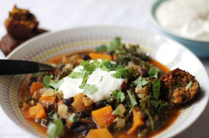 lilla matdériven: Pumpachili med gojibär och grönkål