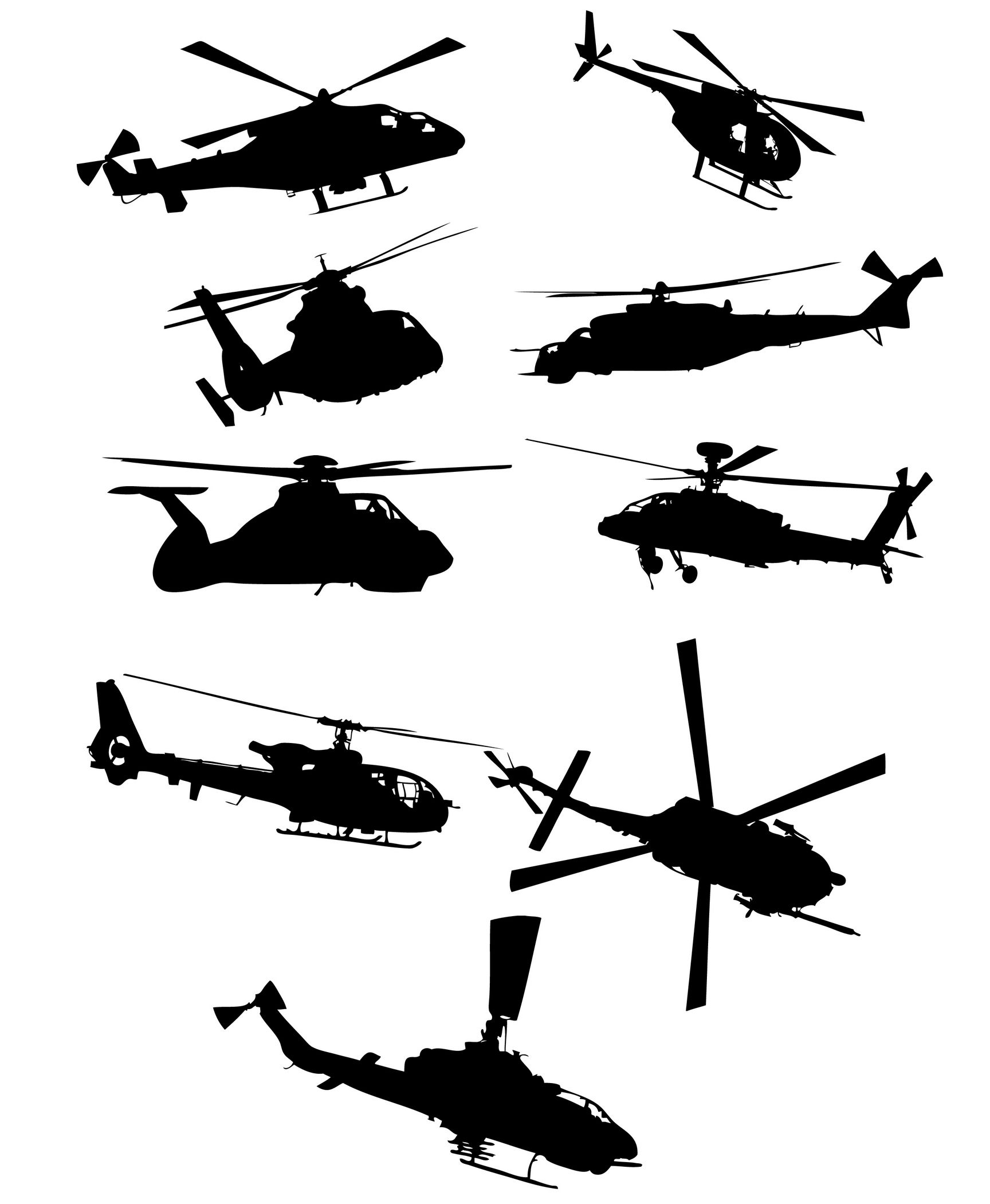 Helicopter Silhouettes | Silhouettes Vector | Pinterest ...
