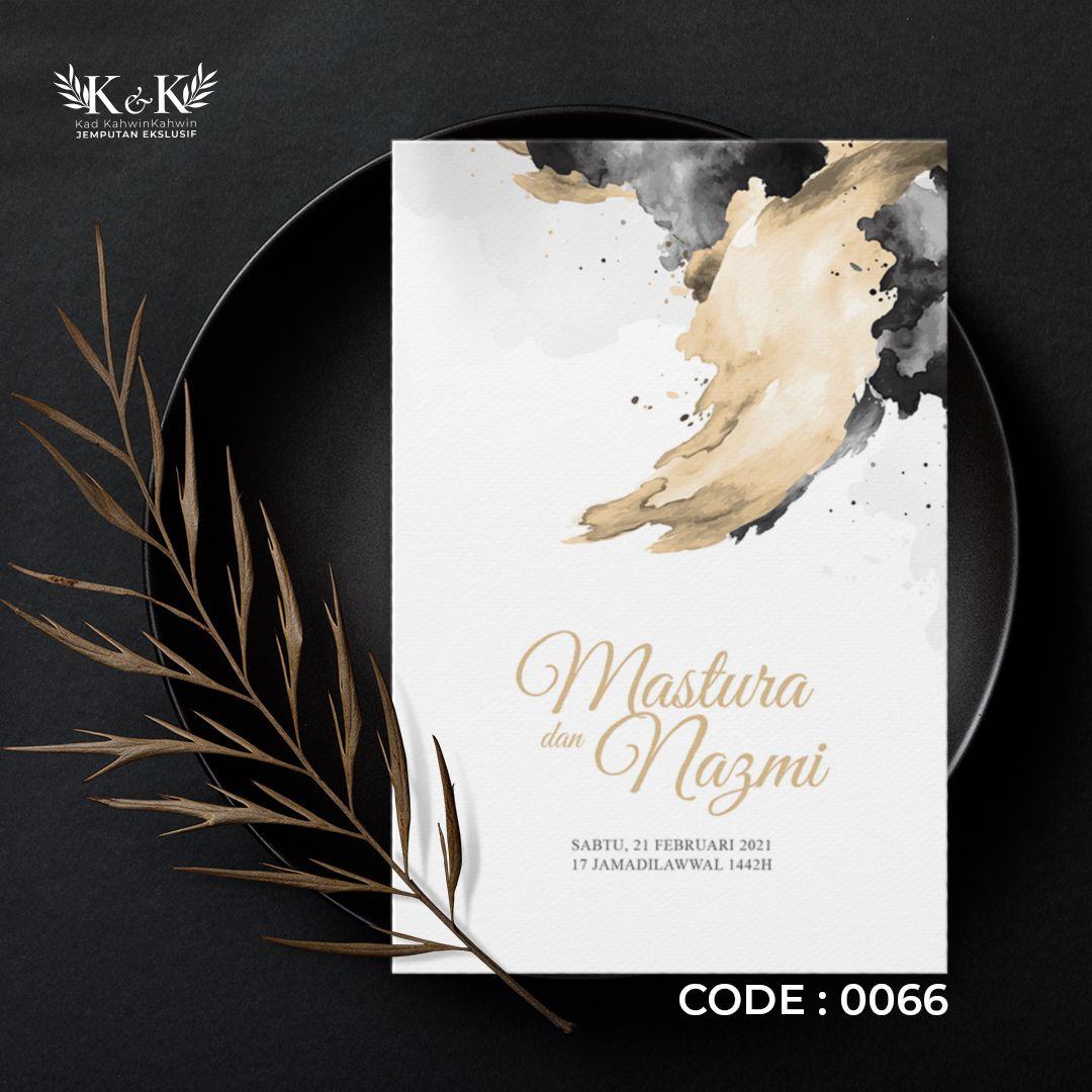0066 Design Kad Kahwin By Kad Kahwinkahwin Kad Kahwin Floral Minimal Modern Design Book Cover Kad Kahwin