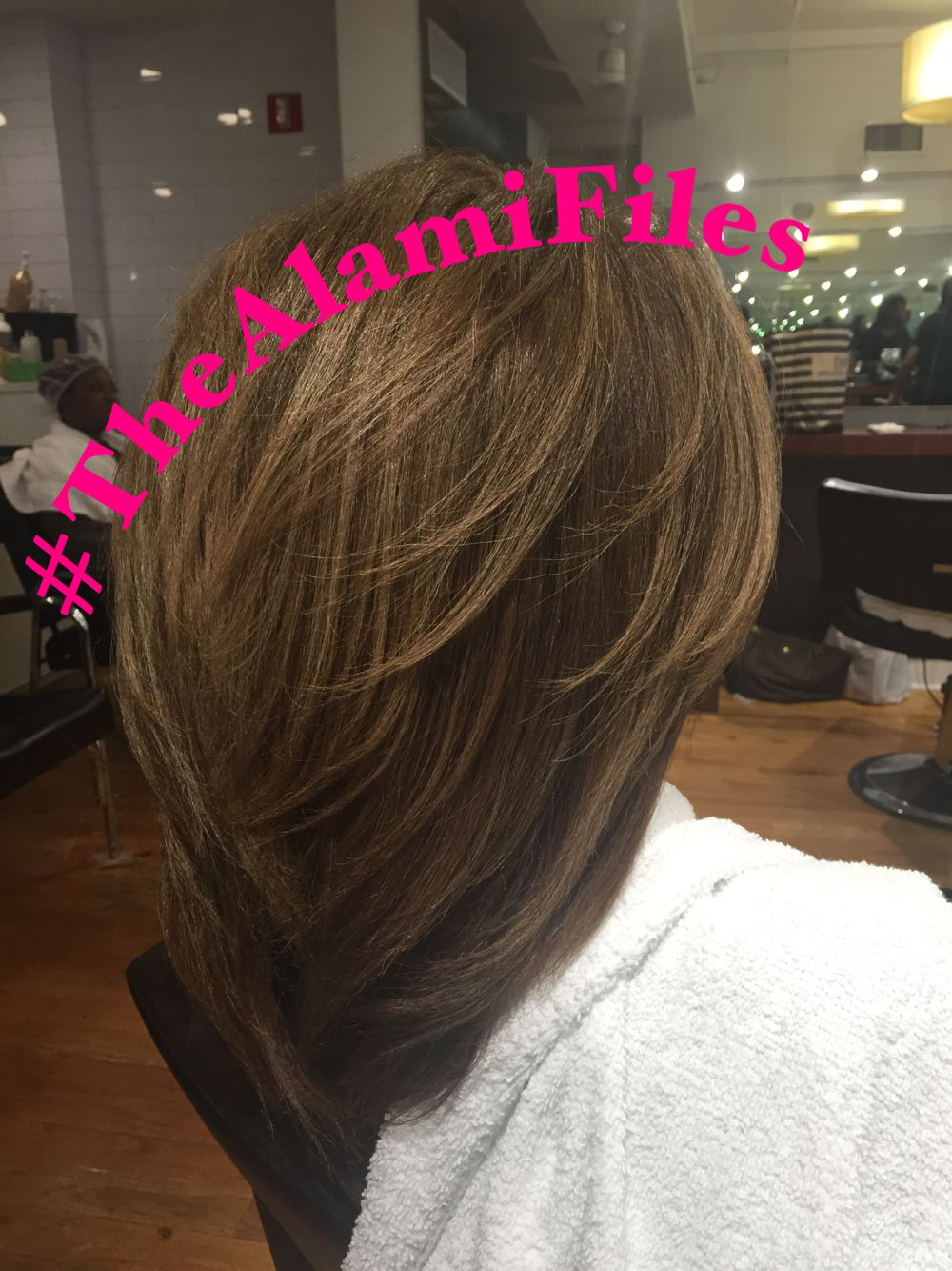 Silk Press on Natural Hair by Jamal Alami. www.StyleSeat