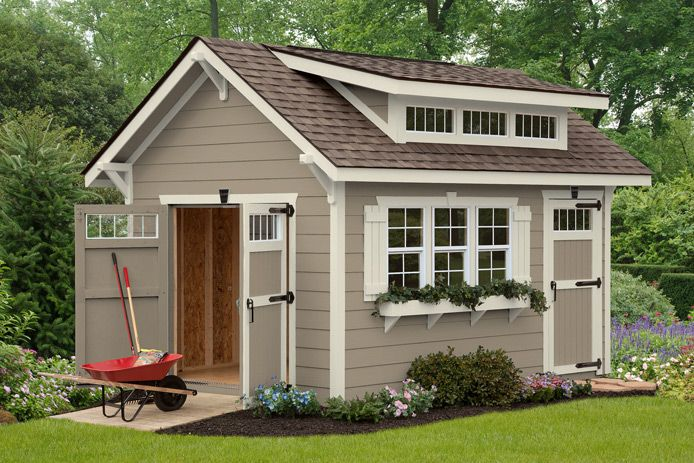 Elite craftsman gardening pinterest barn builders for Craftsman style shed plans