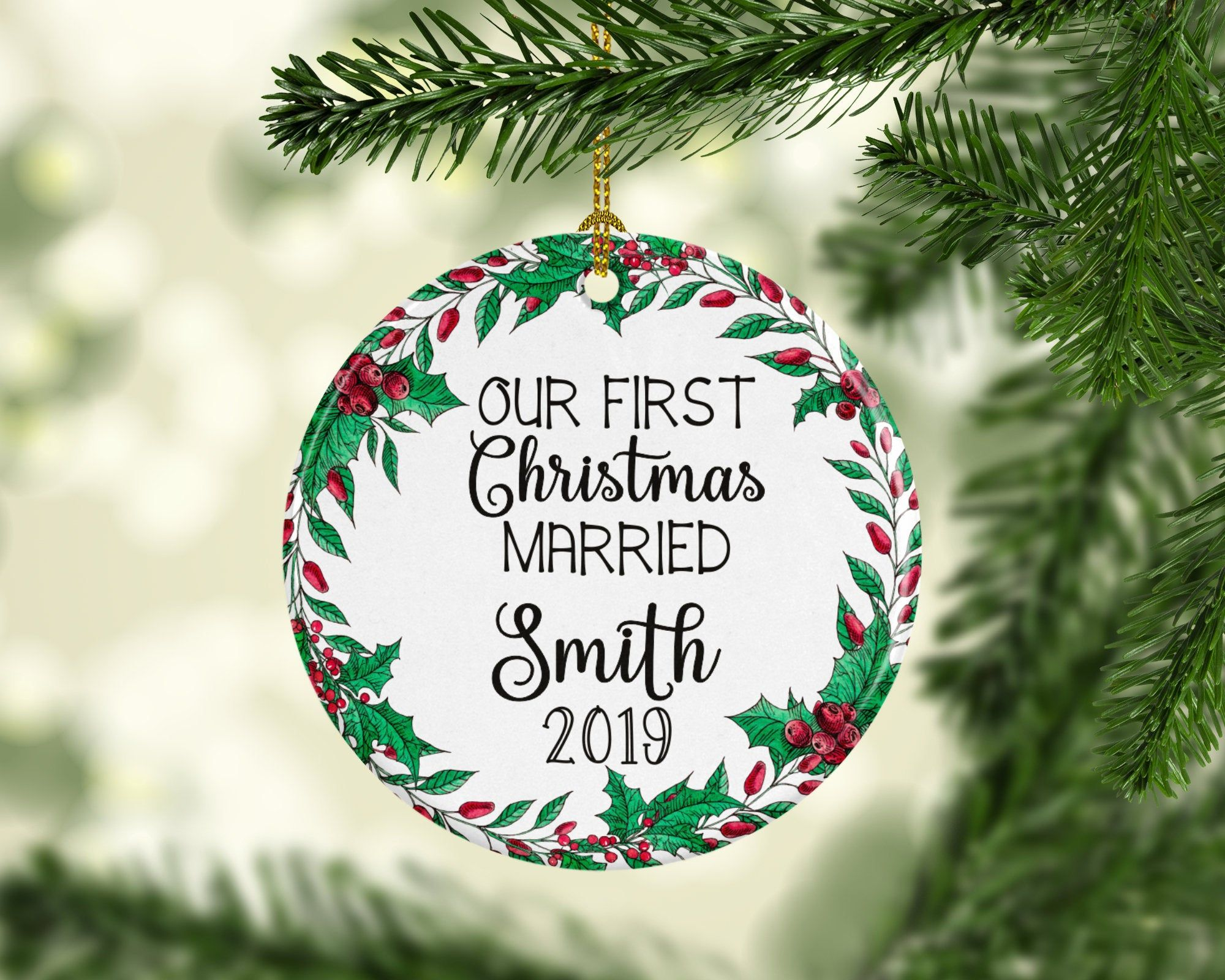 First christmas married ornament married christmas