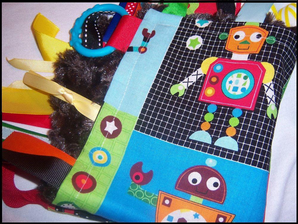 Robots Mini Blankie Sensory Lovie with Free by ...