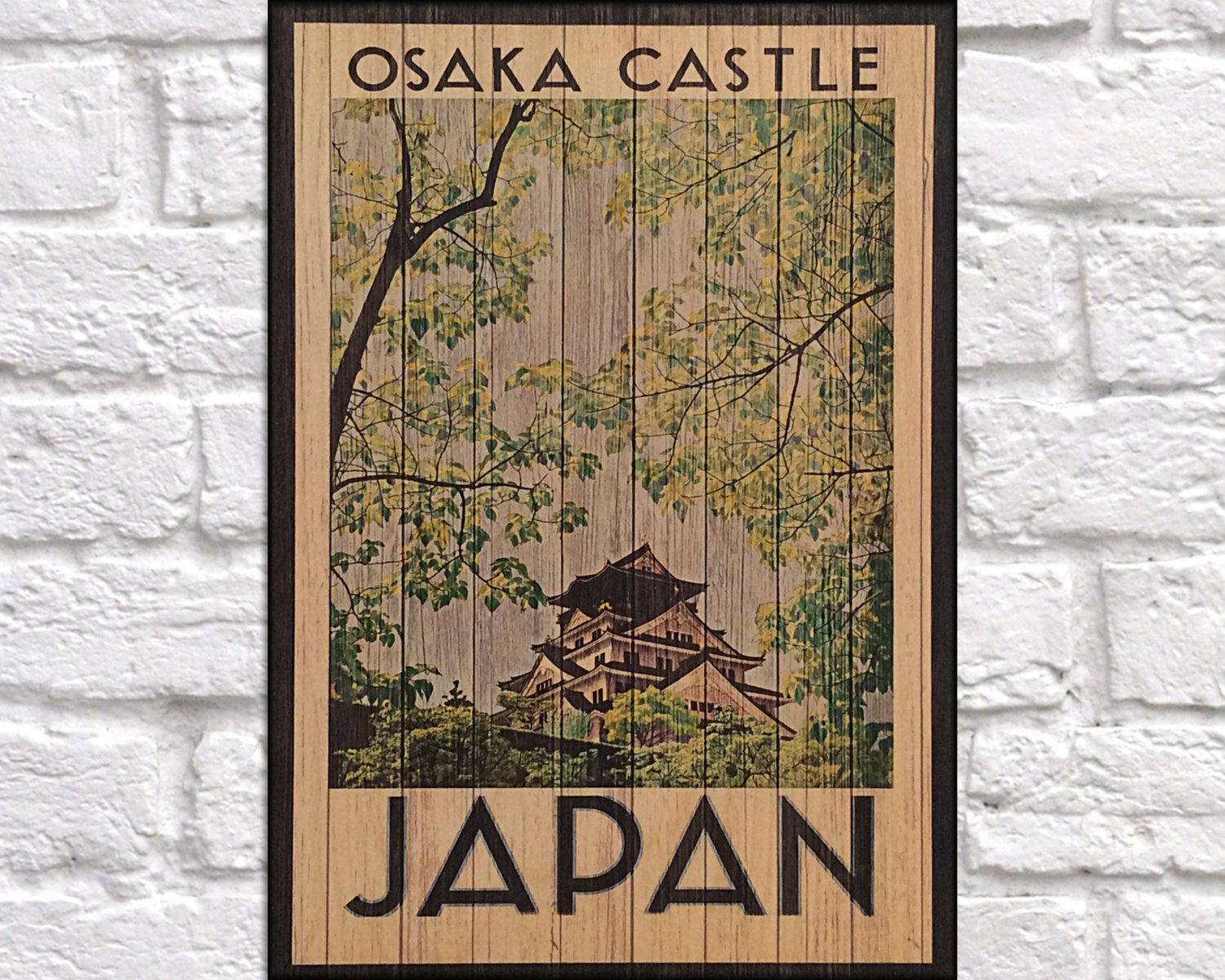 Japan Travel Poster Vintage Japanese Travel Decor Japanese Travel
