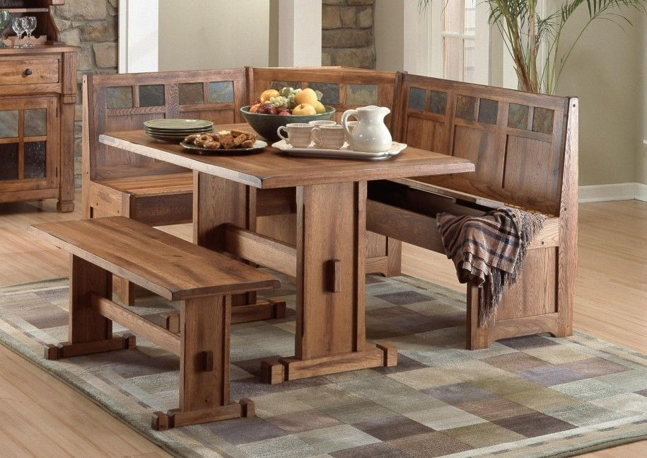 Elegant Corner Kitchen Table With Comfortable Couch Beautiful Wooden Design