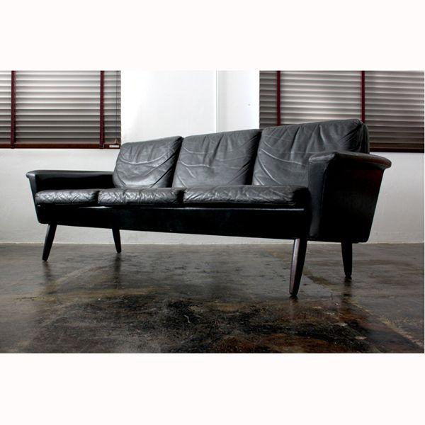 Vintage Leather 3seat sofa:ミッドセンチュリーモダン | ソファ | デンマーク製