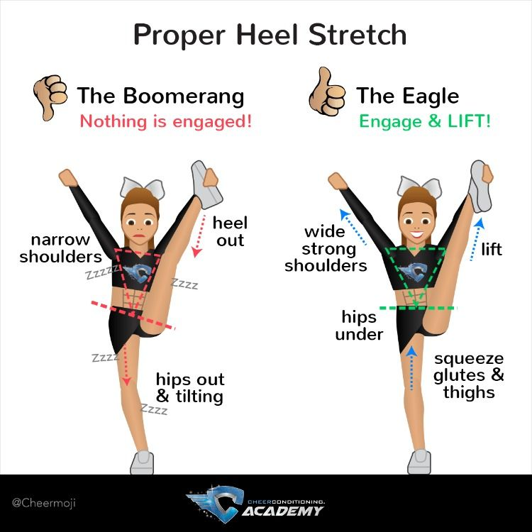 Flyers: How to Heel Stretch #cheerworkouts