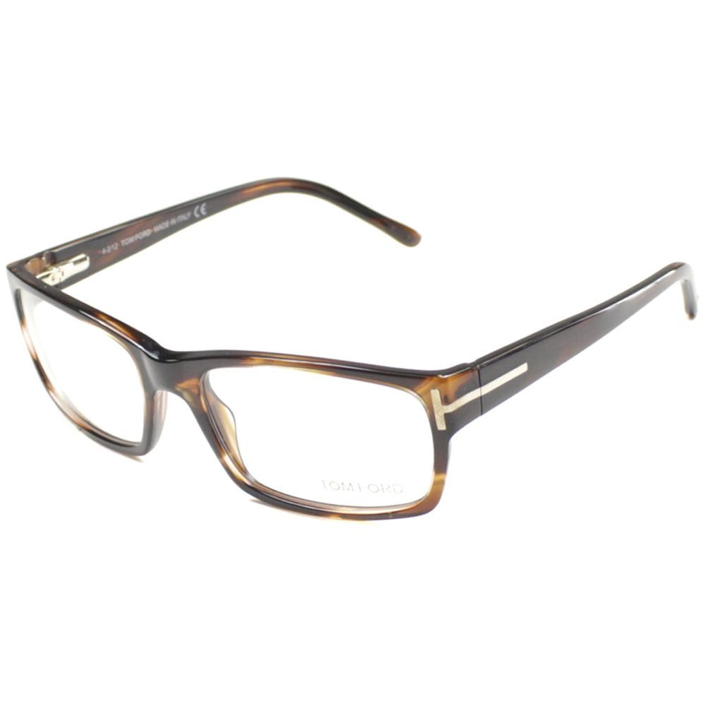 5627ea4ecf7 Tom Ford Mens TF5013 FT5013 052 Striped Brown Rectangle Plastic ...