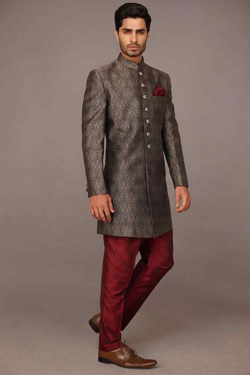 Mehndi design 2017 for mens - Pakistani Groom Wedding Sherwani Designs 2017 For Mehndi