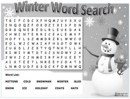 Click image to download and print winter word search ...
