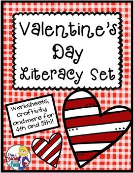 valentine 39 s day literacy set valentine 39 s day activities literacy. Black Bedroom Furniture Sets. Home Design Ideas