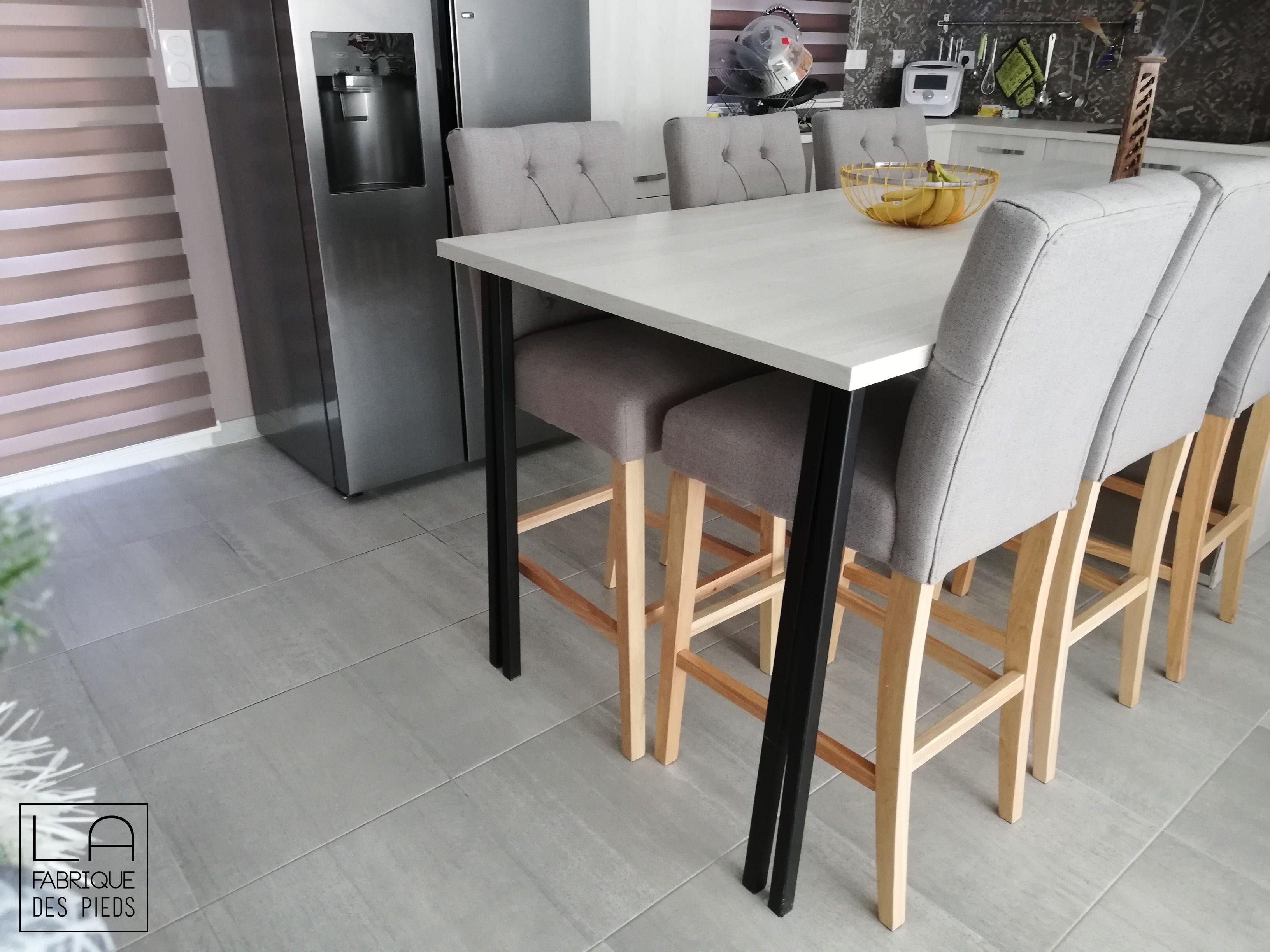Pied Ilot Central 90 Cm Carre La Fabrique Des Pieds En 2020 La Fabrique Des Pieds Table Haute Cuisine Table Haute
