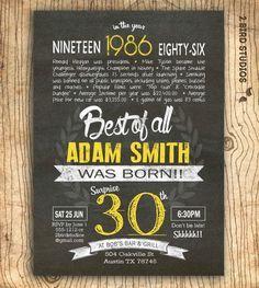 30th Birthday Invitation Surprise By 2birdstudios