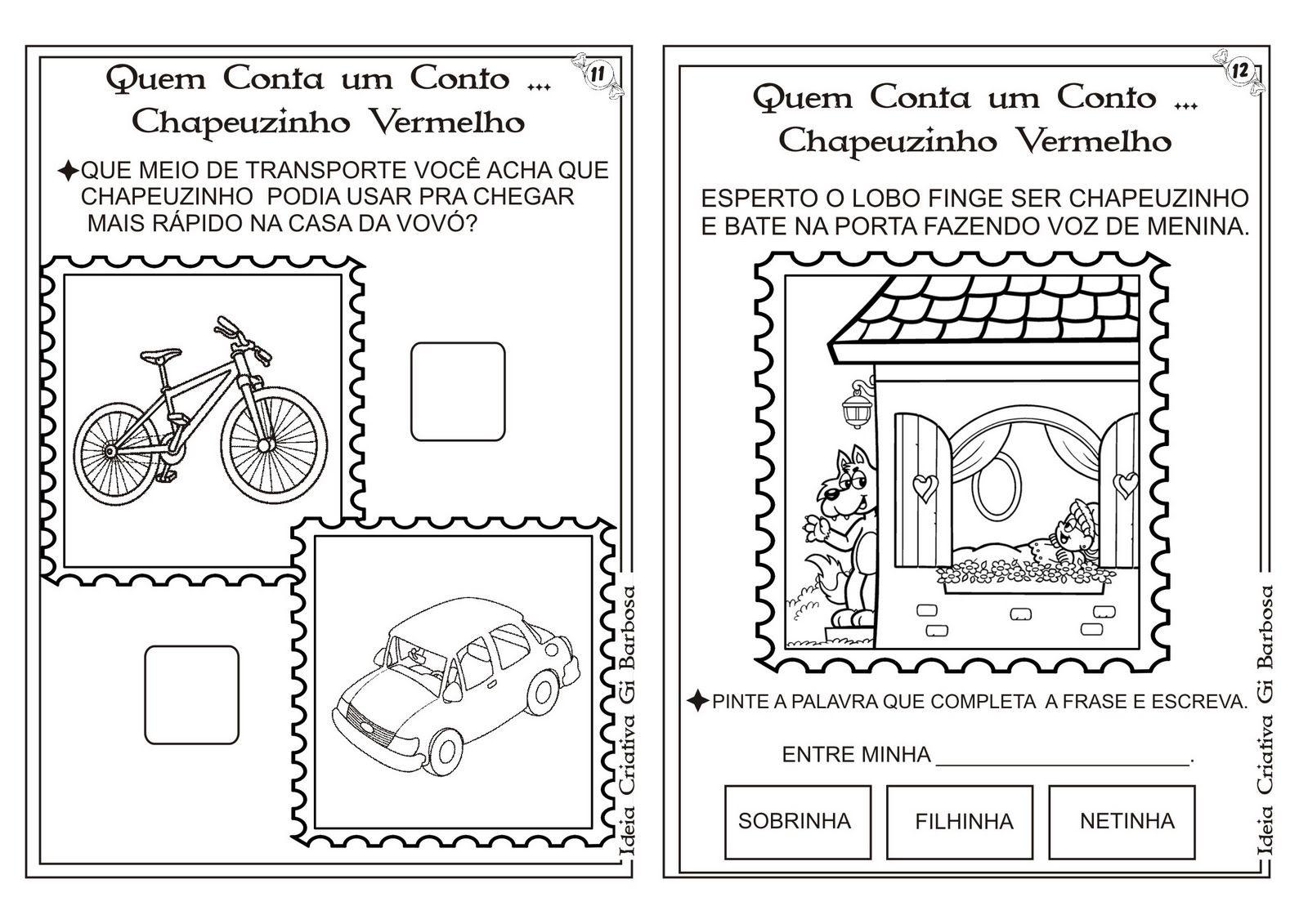 Chapeuzinho Vermelho 7 Jpg 1600 1131 Com Imagens Conto
