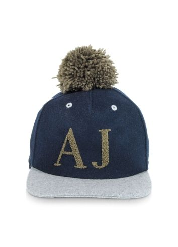 8b6284a92 Blue and Gray Wool Blend Pom Pom Baseball Hat | ❤️ Dope hats ...
