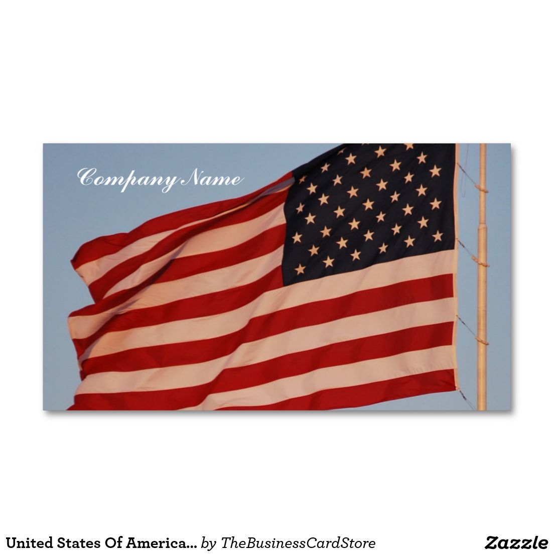 United States Of America Flag Blue Sky Standard Business Card ...